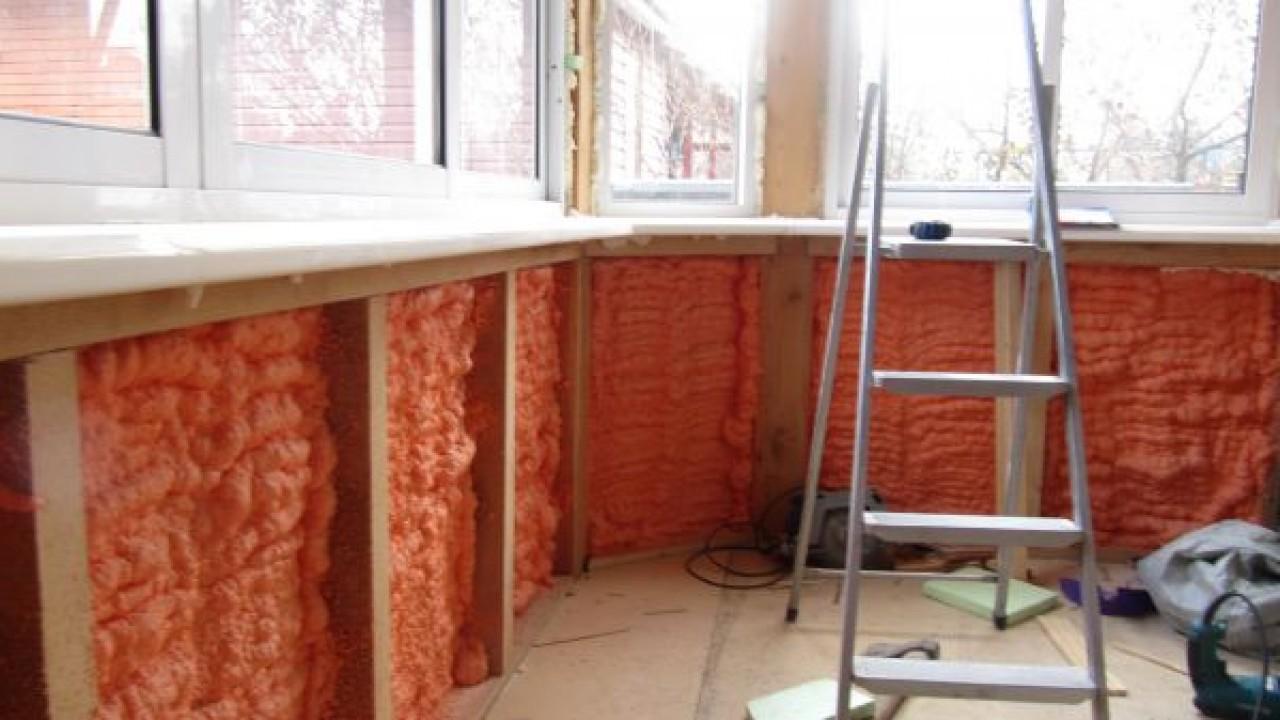 Утепление балкона в доме.